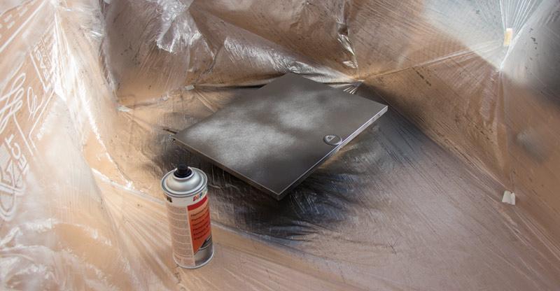 Garderobe im Flur gestalten mit Tapete - Sicherungskasten lackieren