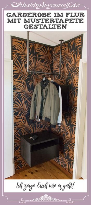 Garderobe im Flur gestalten mit Tapete - Ich zeige Euch wie es geht