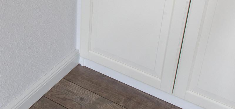 Pax Schrank einbauen - Keine Staubecken mehr