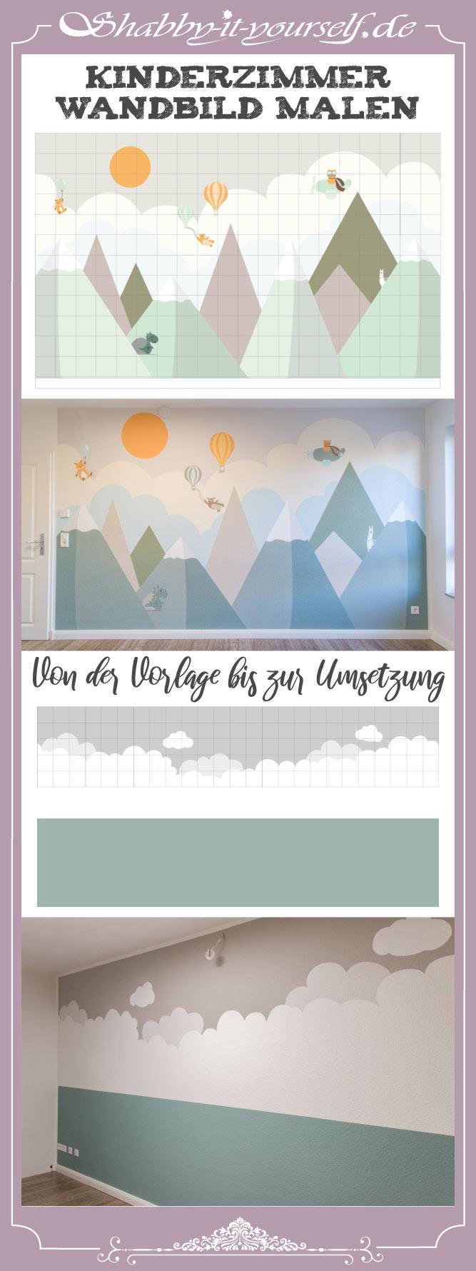 Kinderzimmer Wandbild streichen - Die Anleitung auf meiner Webseite