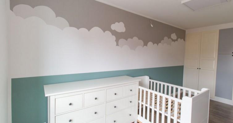 Kinderzimmer Wandbild streichen - Wolkenhimmel