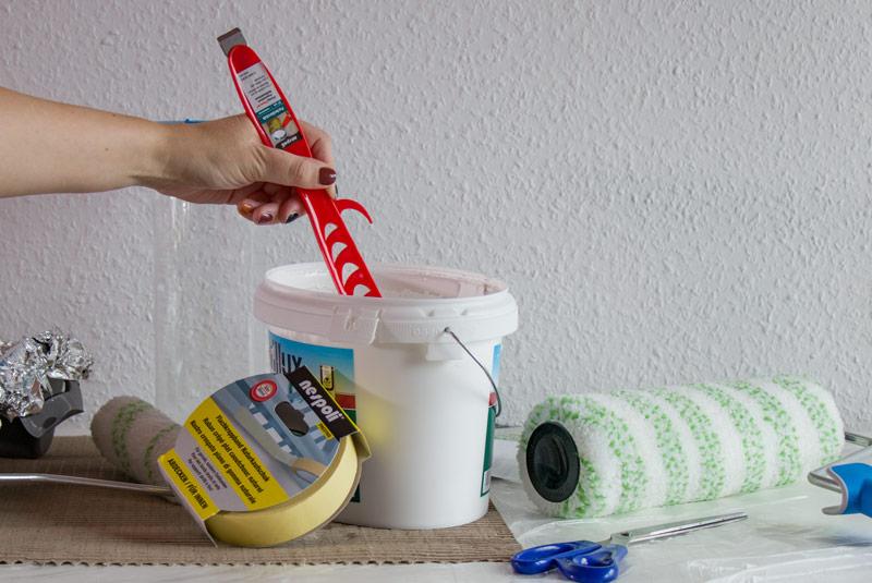 Kinderzimmer Wandbild streichen - Die Materialien