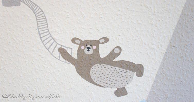 Kinderzimmer Wandbild streichen - Der Bär