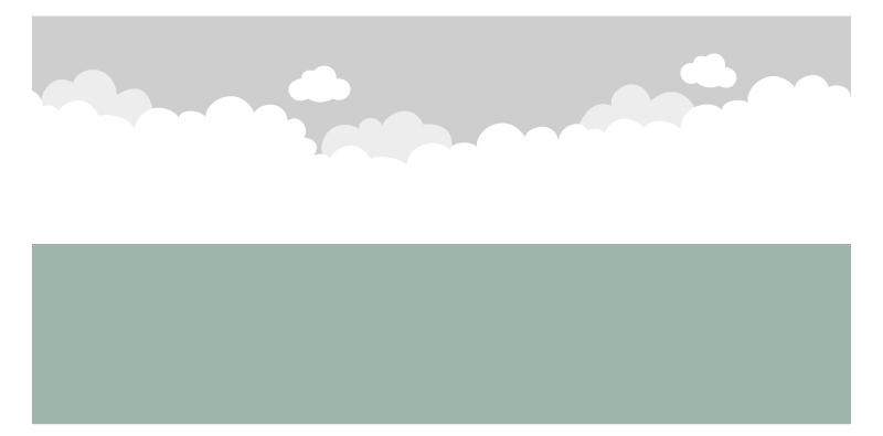 Kinderzimmer Wandbild streichen - Vorlage Wolkenhimmel
