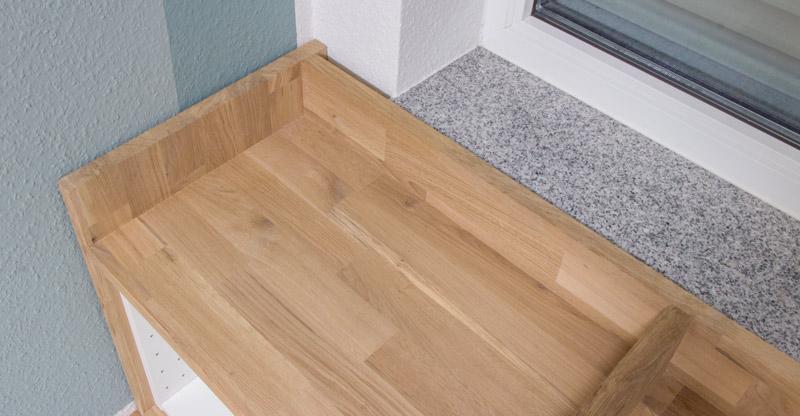 Fensterbank als Sitzbank mit Stauraum gestalten IKEA Hack - So sieht es von oben aus
