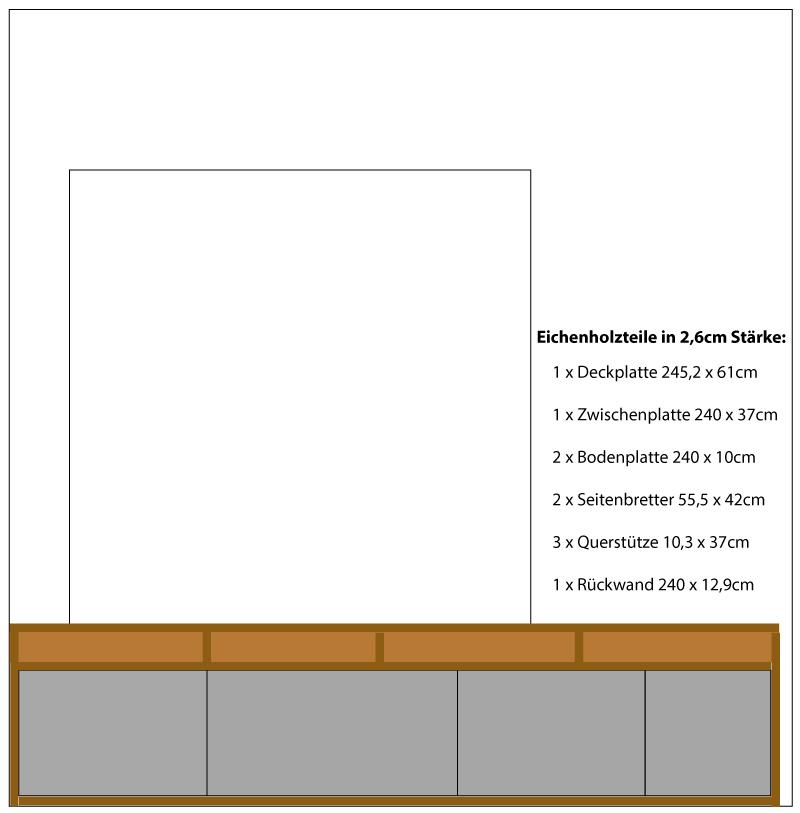 Fensterbank als Sitzbank mit Stauraum gestalten IKEA Hack - Die Bauzeichnung