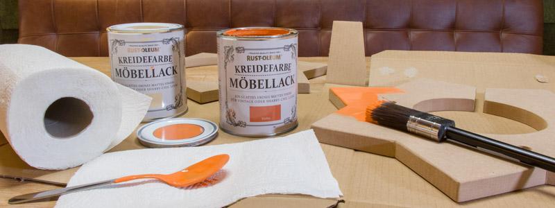 Kinderzimmer Lampe selber bauen - Mit Kreidefarbe lackieren