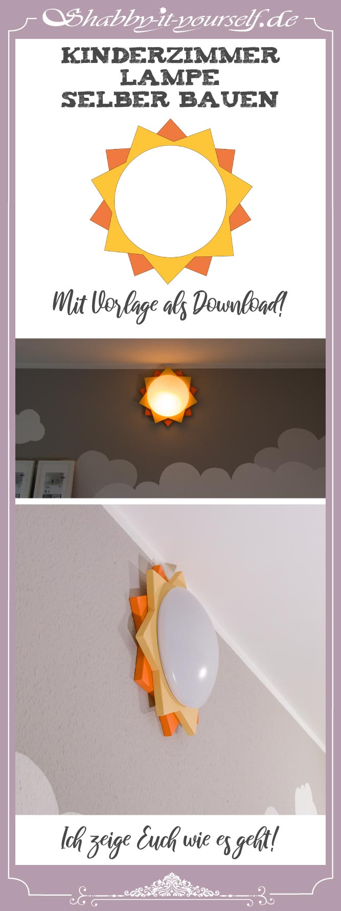 Kinderzimmer Lampe selber bauen - PIN