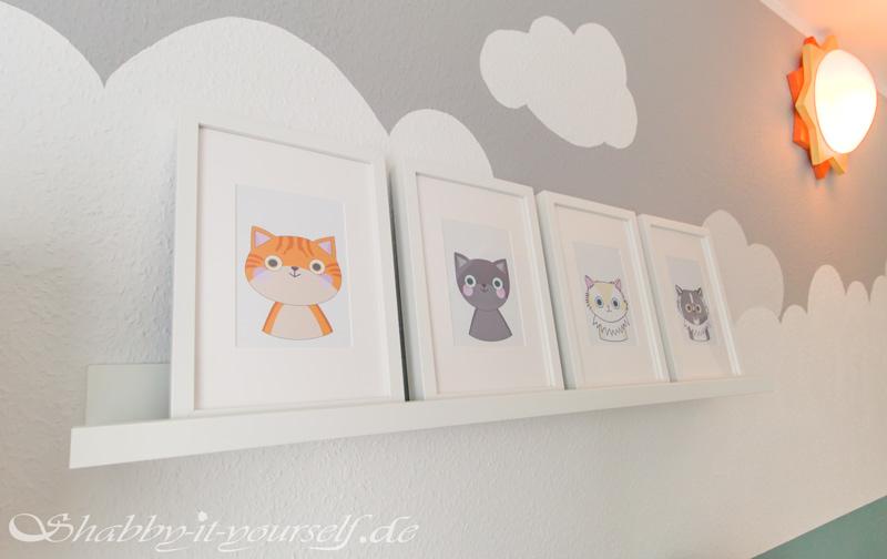 Babyzimmer Kinderzimmer Jungen - Illustrationen meiner Katzen
