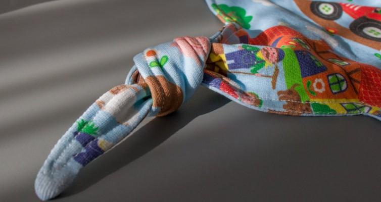 Baby Schmusetuch selber nähen - Knoten zum Greifen