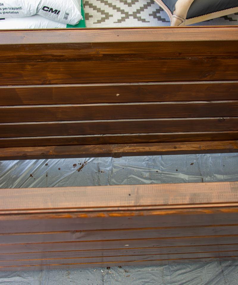Anleitung Hochbeet Pflanzkuebel selber bauen - Löcher vorbohren