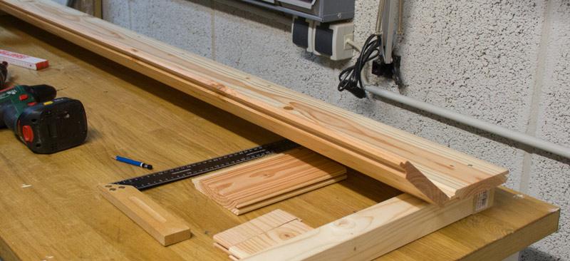 Anleitung Hochbeet Pflanzkuebel selber bauen - Profilholz montieren