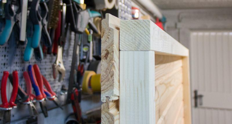Anleitung Hochbeet Pflanzkuebel selber bauen - Der Rahmen von der Seite