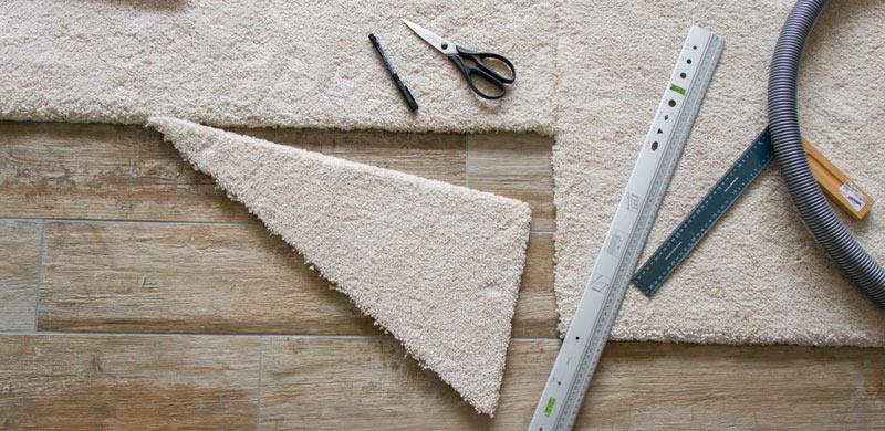 IKEA Teppich STOENSE zusammenlegen - Kreatives Zuschneiden