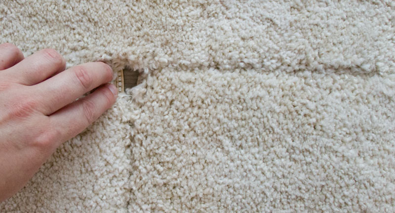 IKEA Teppich STOENSE zusammenlegen - Ecken sind nicht rechtwinklig