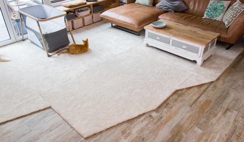 IKEA Teppich STOENSE zusammenlegen - Das Ergebnis