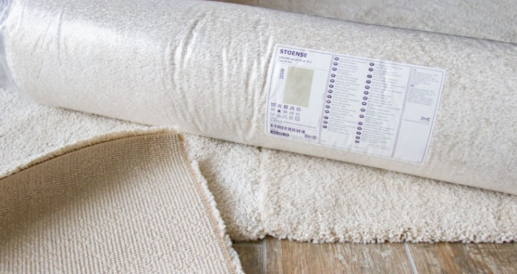 IKEA Teppich STOENSE zusammenlegen - Vier Teppiche