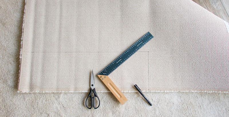 IKEA Teppich STOENSE zusammenlegen - Zuschneiden