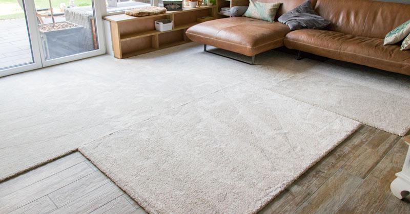 IKEA Teppich STOENSE zusammenlegen - Zuerst müssen sich die Teppiche legen