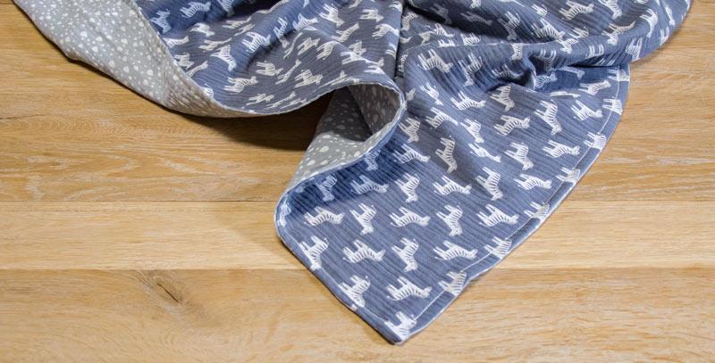 Nähen mit Musselin - Die Decke sieht noch akkurat aus
