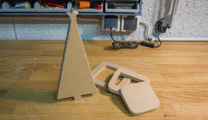 DIY Adventskranz aus Holz - Die Einzelteile des Tannenbaums