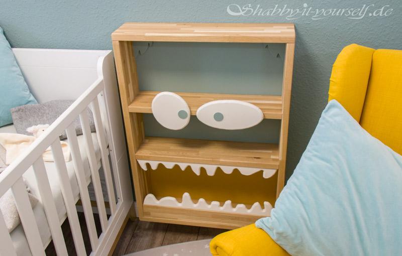 Monster Bücherregal für Kinder - Gleichzeitig als Nachttisch nutzbar