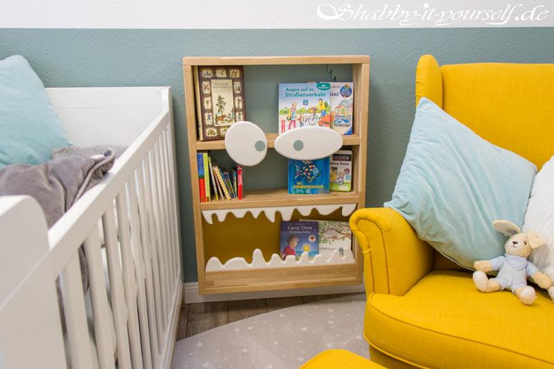Monster Bücherregal für Kinder - Fertig mit Büchern gefüllt