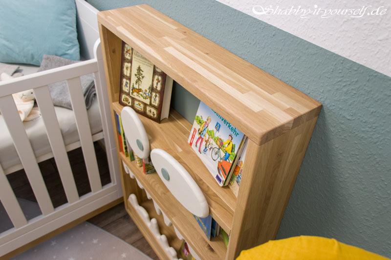 Monster Bücherregal für Kinder - Aus glattem Eichenholz