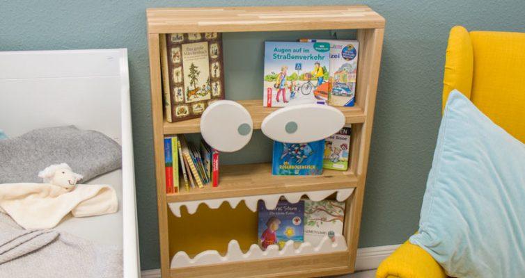 Monster Bücherregal für Kinder - Hier passen eine Menge Bücher rein