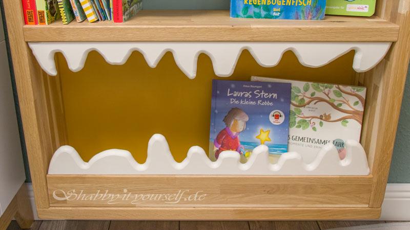 Monster Bücherregal für Kinder - Die Zähne verteidigen die Bücher