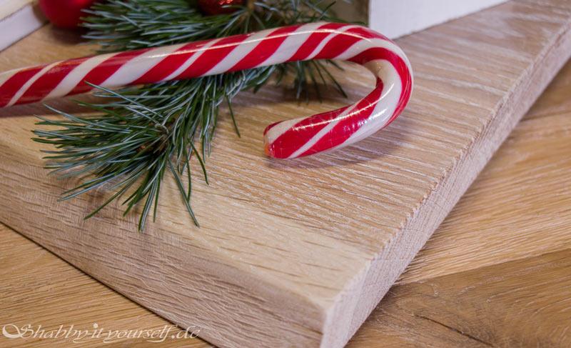 DIY Adventskranz aus Holz - Gekälktes Eichenholz