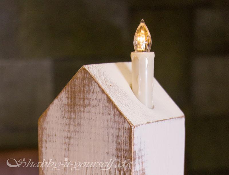 DIY Adventskranz aus Holz - Mit LED Kerzen
