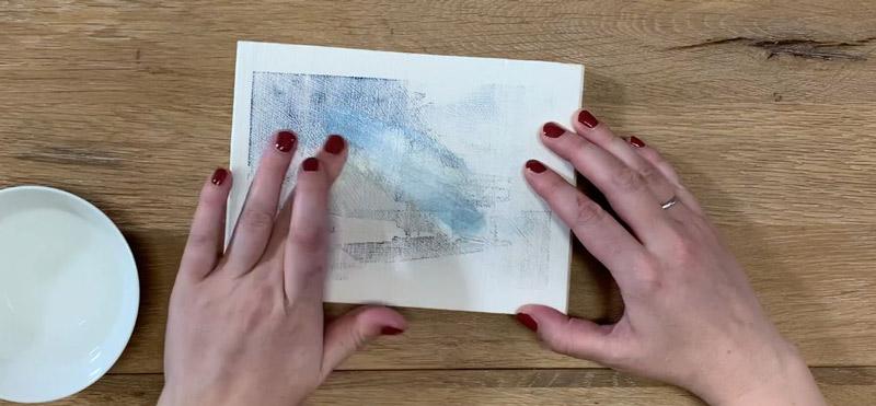 Drucktransfer mit Freezer Paper auf Holz und Kreidefarbe - Wasserlöslich