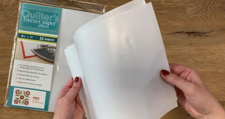 Drucktransfer mit Freezer Paper auf Holz und Kreidefarbe Freezer Paper