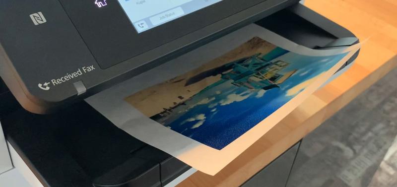 Drucktransfer mit Freezer Paper auf Holz und Kreidefarbe - Druck mit dem Tintenstrahldrucker