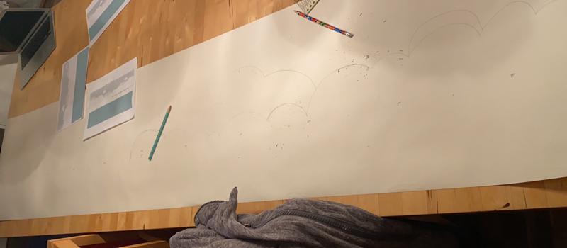 Leserprojekt Wandbild Weltraum von Katja - Schablone