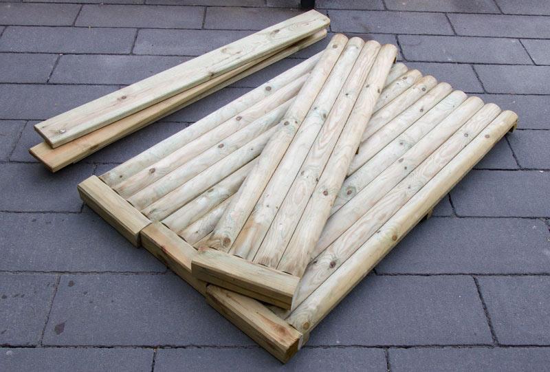 Sandkasten aus Holz Infos - Der Bausatz