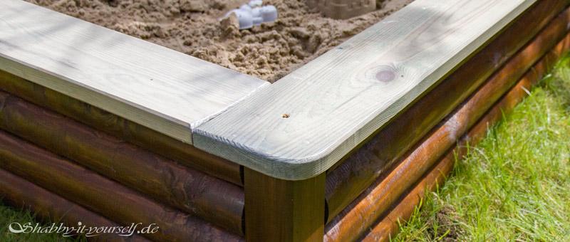 Sandkasten aus Holz Infos - Gut geschützt mit UV Schutz-Lasur