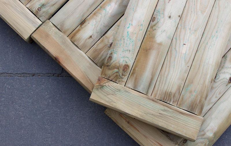 Sandkasten aus Holz Infos - Kiefernholz kesseldruckimpraegniert