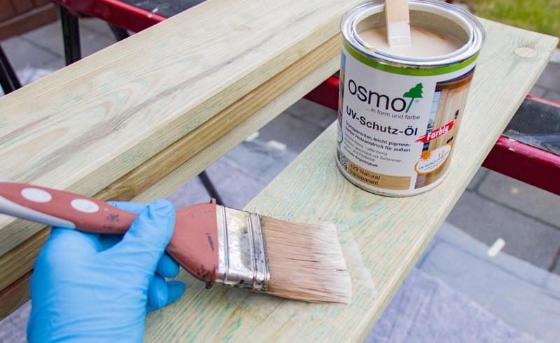 Sandkasten aus Holz Infos - Holz mit Oel schuetzen
