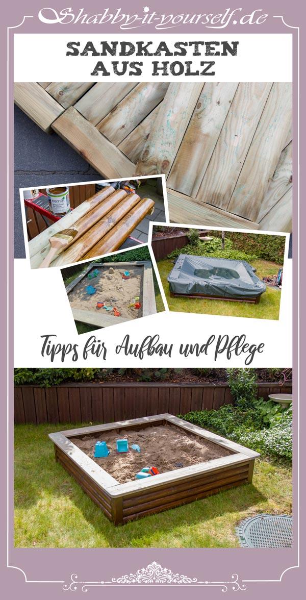 Sandkasten aus Holz - Tipps für Aufbau und Pflege