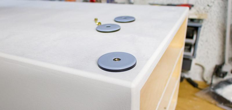 Spielzeugkiste Sitztruhe Lego Duplo DIY bauen - Gleiter montieren